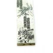 Placa Argintata cu Flori de Piersic - pentru Noroc in Dragoste