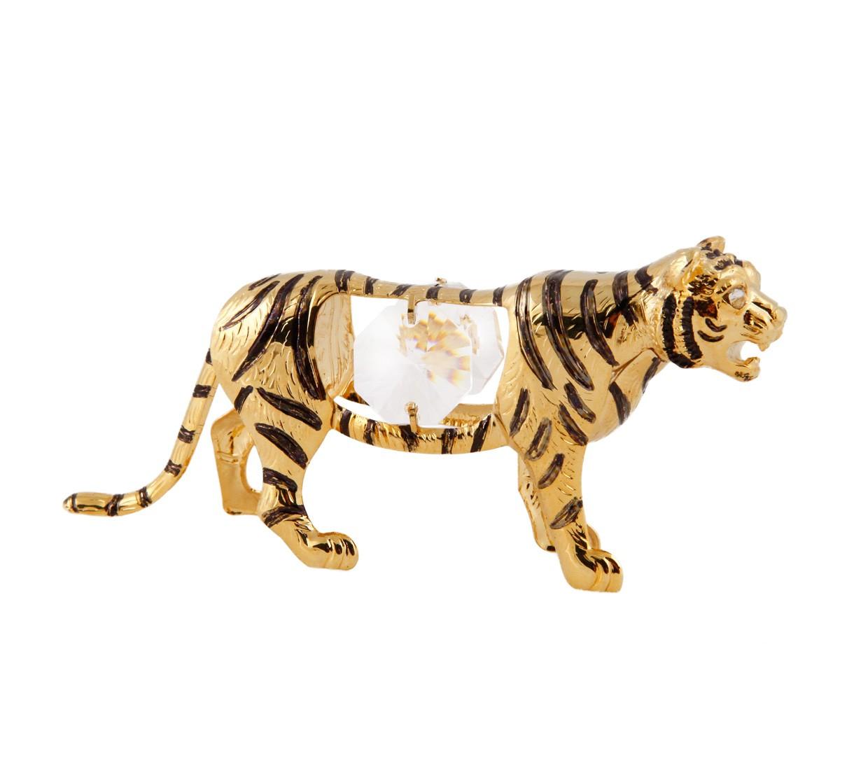 Tigru cu Cristale Swarovski placat cu Aur 24 k