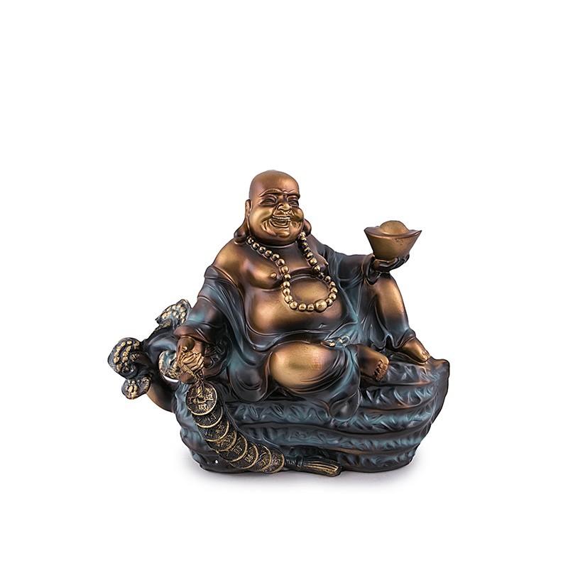 Buddha Vesel pe Aluna, cu Sirag de Monede si Pepita