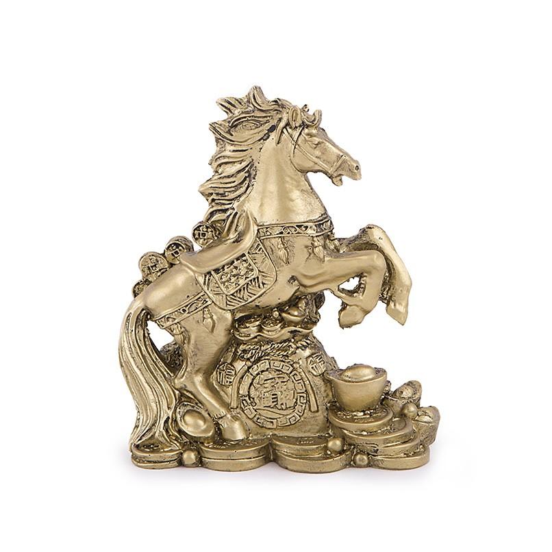 Calul Victoriei cu Sacul Prosperitatii si Simboluri ale Bogatiei