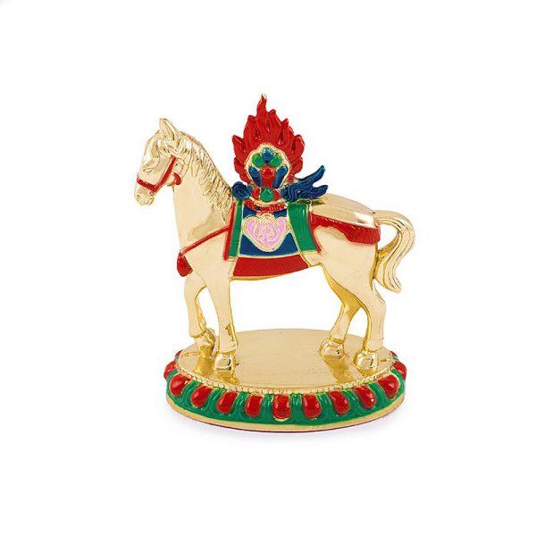 Calul de Vant Tibetan cu Nestemata - metal