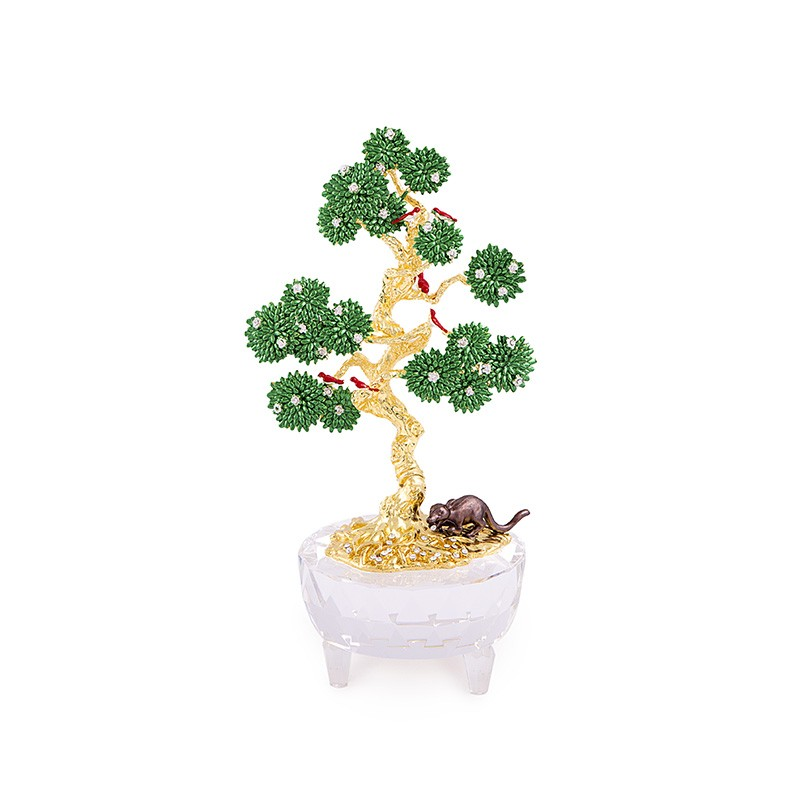 Copacul Dorintelor cu 6 Pasari si Mangusta - metal
