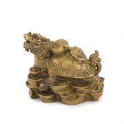 Testoasa - Dragon cu Pui si Simboluri ale Prosperitatii