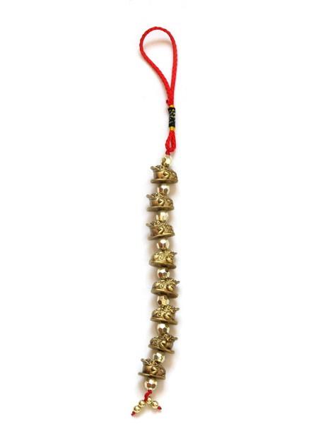Amuleta cu 8 Broscute Norocoase cu Trei Picioare