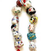 Amuleta Feng Shui cu Cele 12 Zodii Chinezesti - portelan - marime medie - model 1