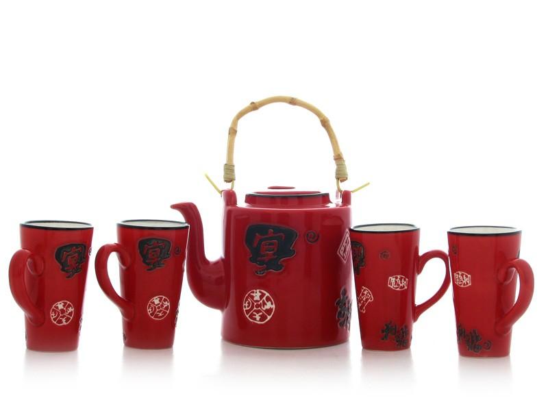 Set Ceai Chinezesc cu Simboluri Norocoase