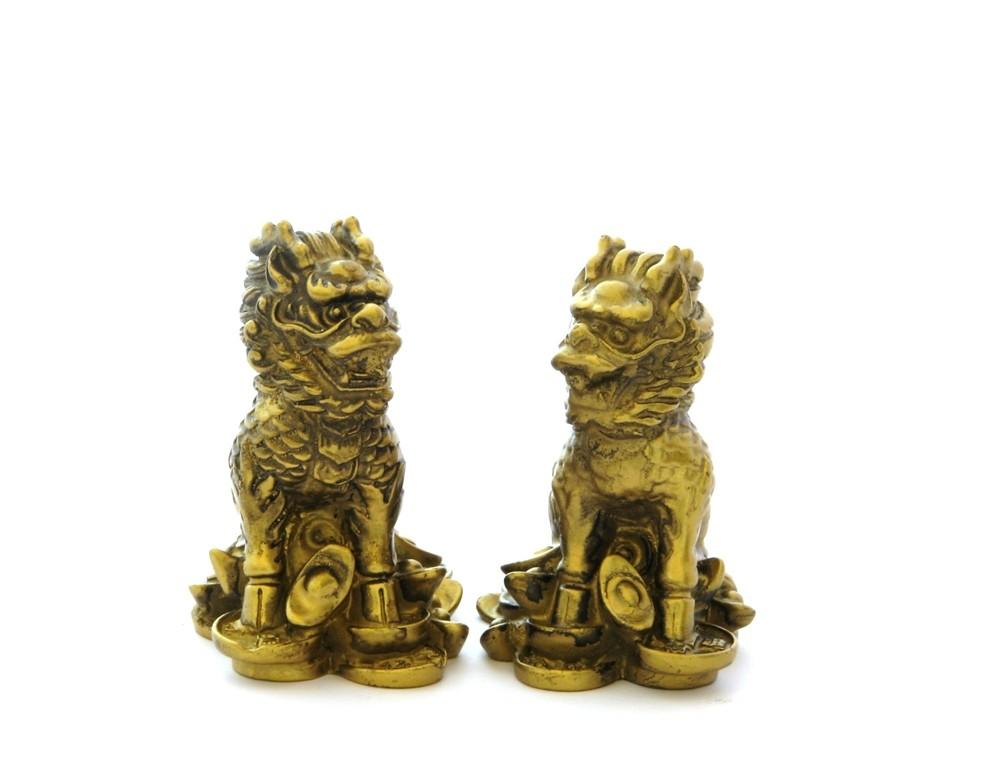 Chi Lin pe Monede Chinezesti si Pepite