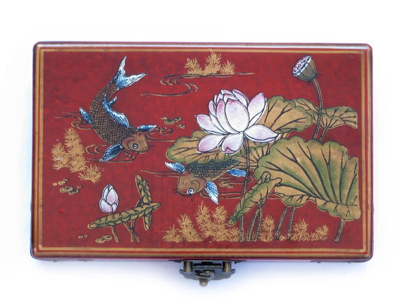 Domino cu Crapii Prosperitatii si Flori de Lotus