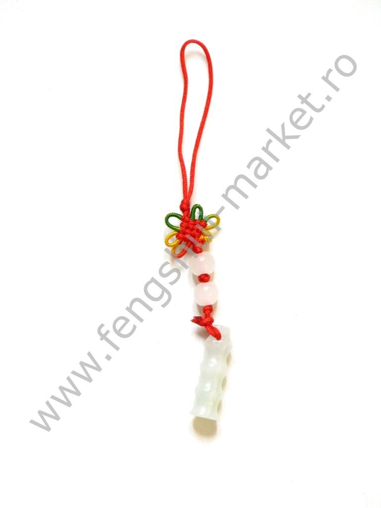 Amuleta cu Pagoda Wen Chang - jad