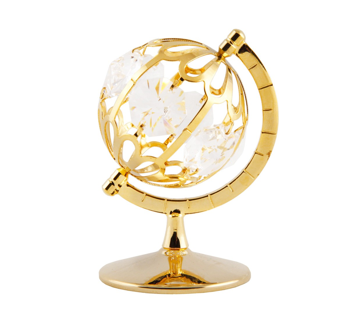 Glob Feng Shui cu Cristale Swarovski - placat cu Aur 24K