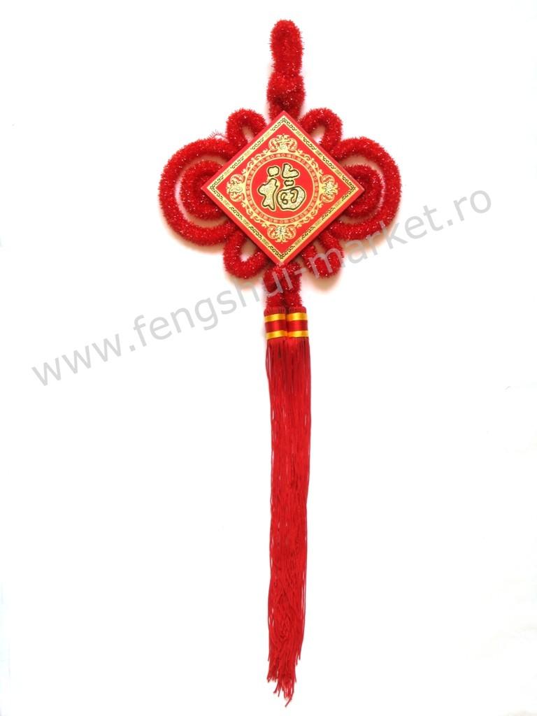 Amuleta Feng Shui cu Simbolul Norocului - marime mare