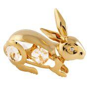 Iepure cu Cristale Swarovski - placat cu Aur 24K