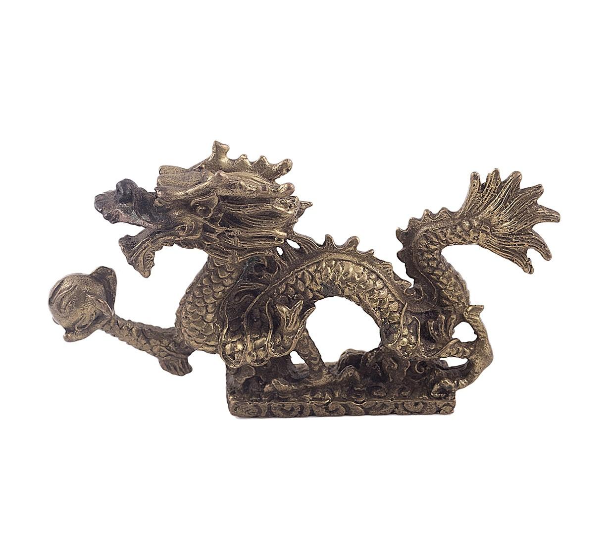 Dragon cu Sfera de Foc - bronz