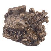 Testoasa Dragon cu Pepita - bronz - marime mica