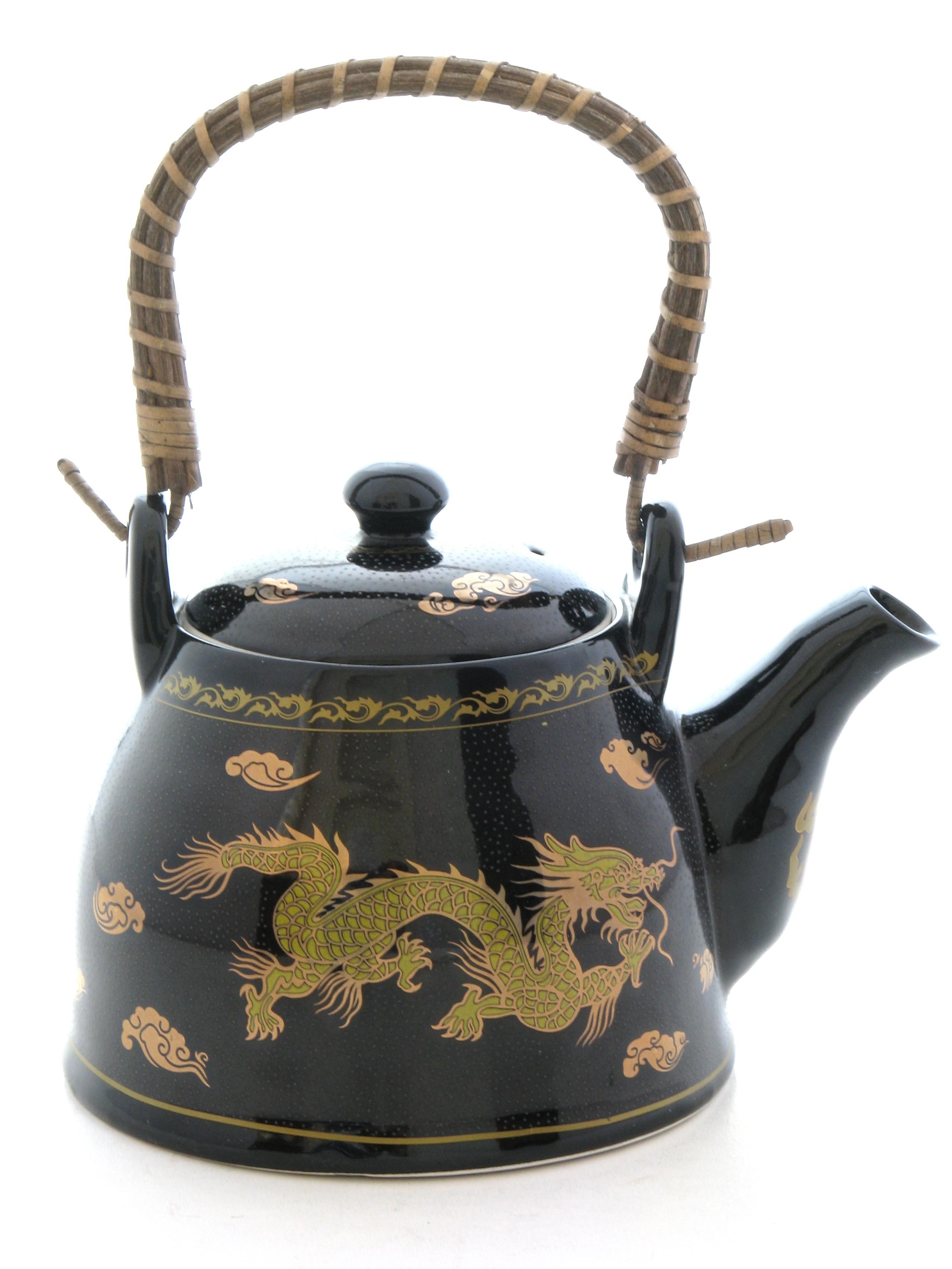 Ceainic Feng Shui cu Dragoni - portelan
