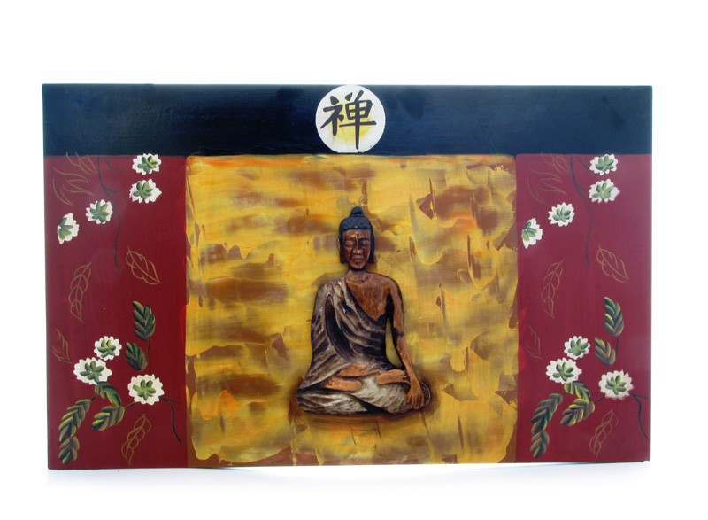 Tablou cu Buddha Medicinal - lemn