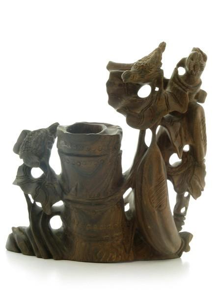 Vaza cu Pasari - lemn