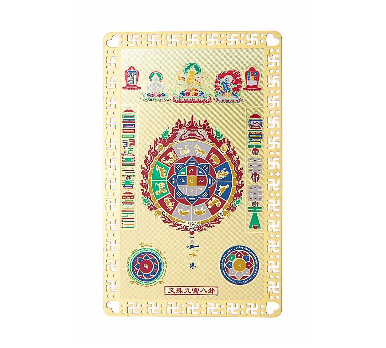 Roata de Foc, Zodiac Chinezesc si Zeitati Tibetane - placa metalica