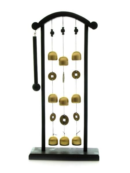Clopot Feng Shui Poarta cu 9 Clopotei - bronz