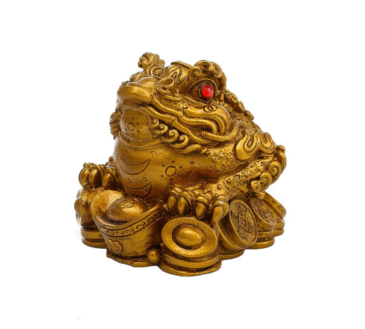 Broasca Norocoasa cu Trei Picioare pe Monede I-Ching si pepite