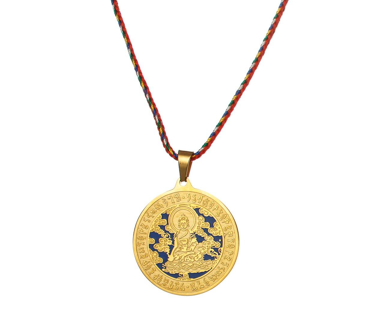 Medalion Buddha Medicinal - auriu