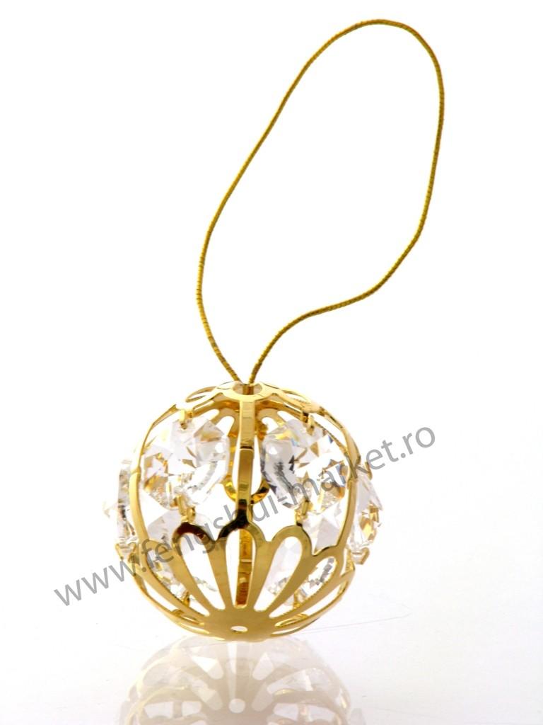Glob cu Cristale Swarovski - placat cu Aur 24K