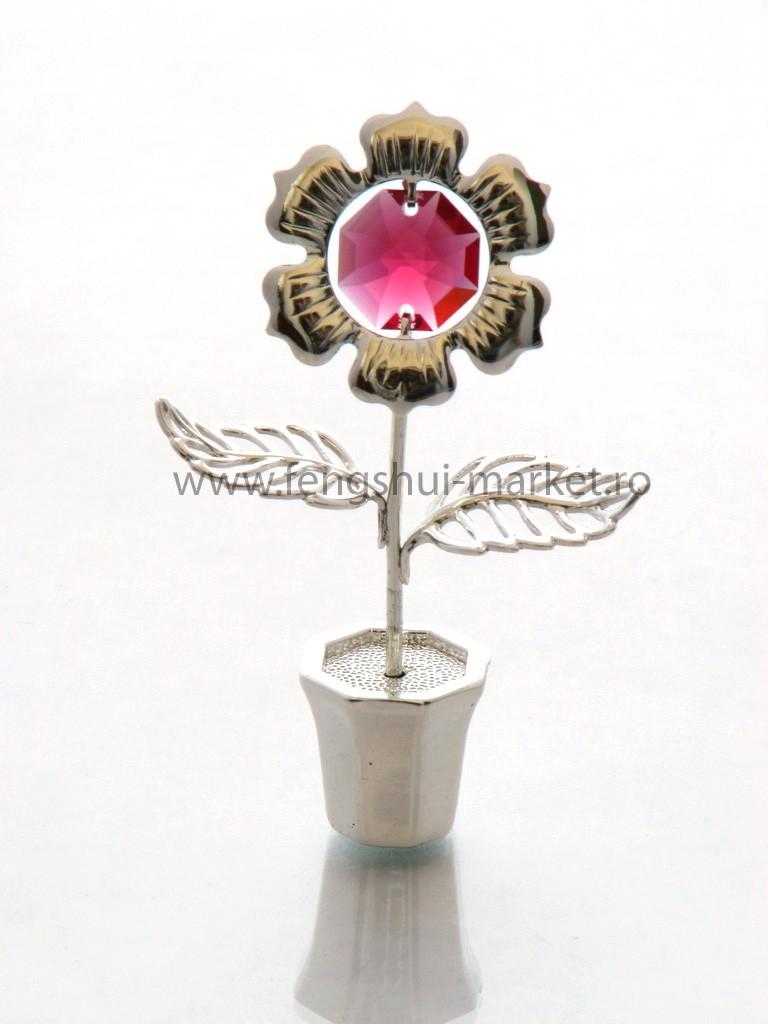 Margareta cu Cristale Swarovski - placata cu Argint 925