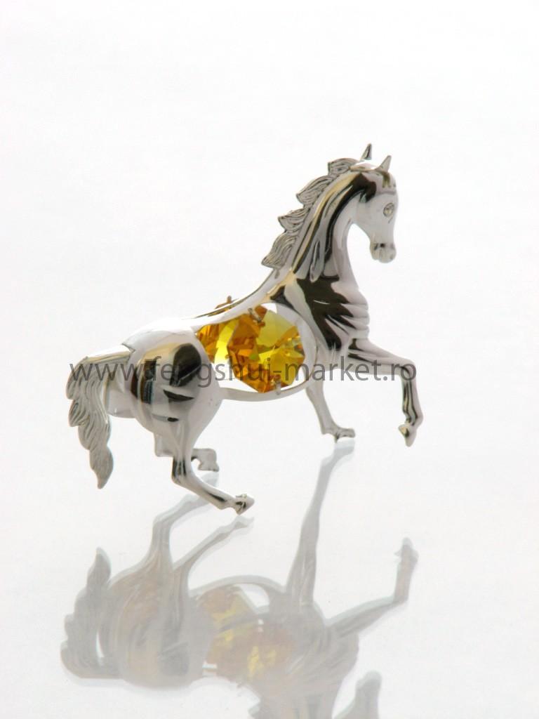 Cal cu Cristale Swarovski - placat cu Argint 925