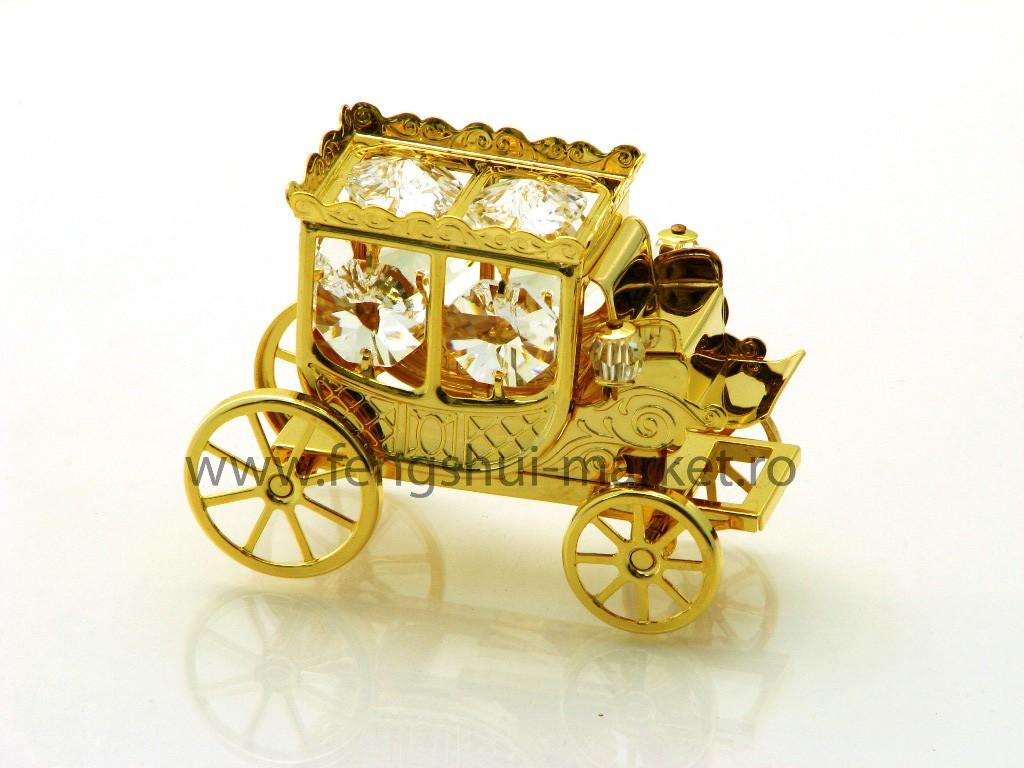 Trasura cu Cristale Swarovski - placata cu Aur 24k