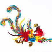 Pasarea Phoenix - accesoriu textil - model 1