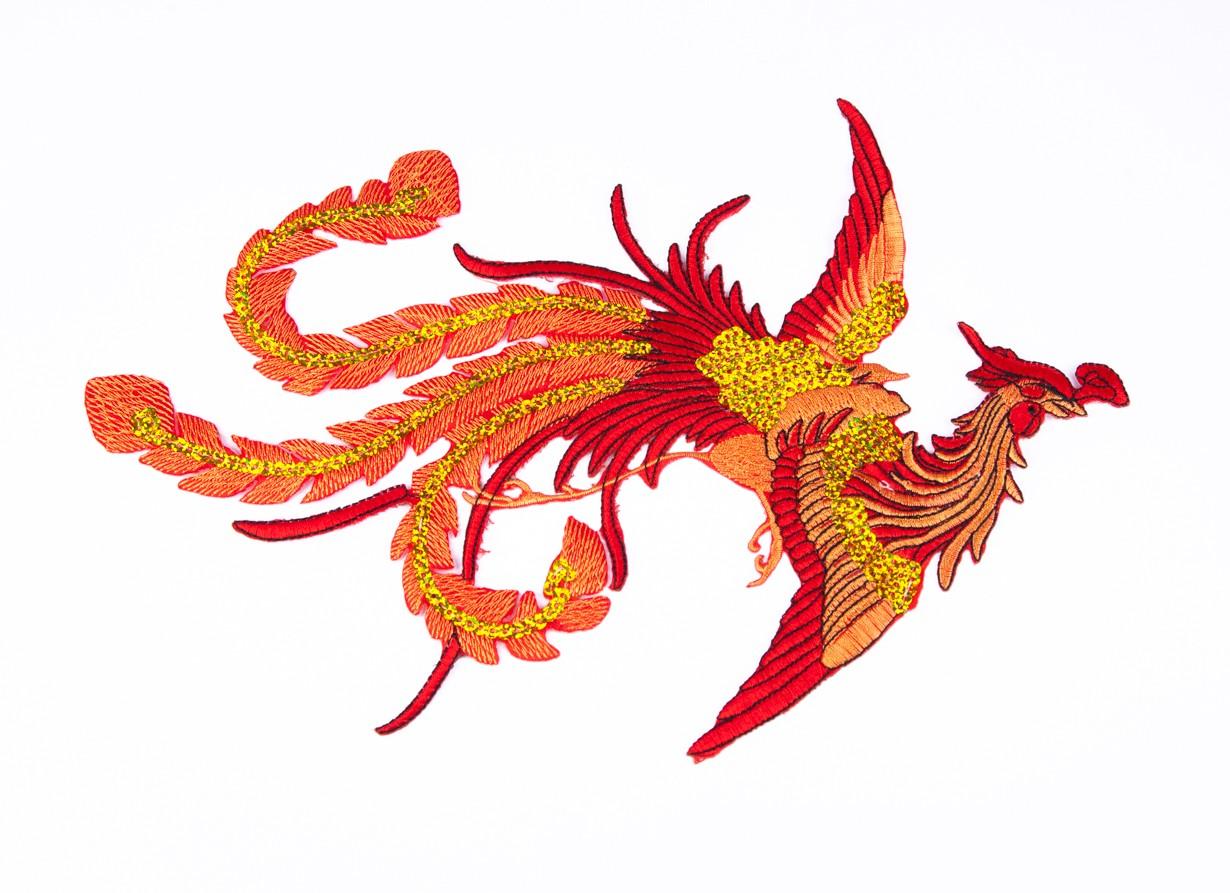 Pasarea Phoenix - accesoriu textil - model 2