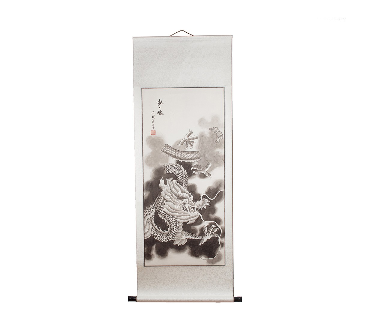 Rol Feng Shui cu Dragon Norocos - alb / negru