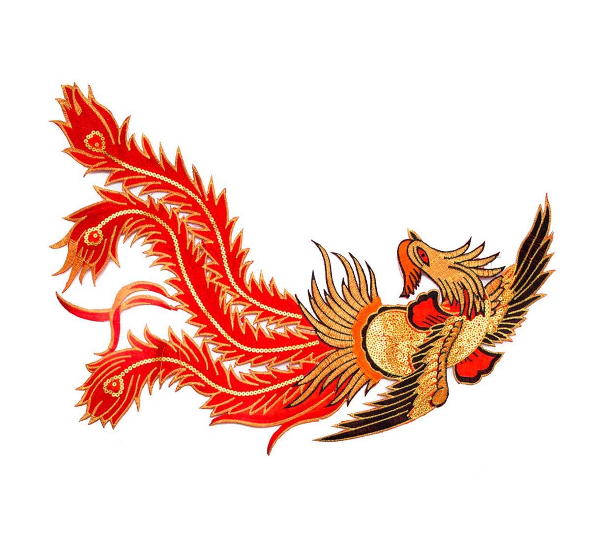 Pasarea Phoenix - accesoriu textil - model 3 - marime mare