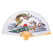 Evantai Feng Shui cu Dragon si Phoenix - marime mare