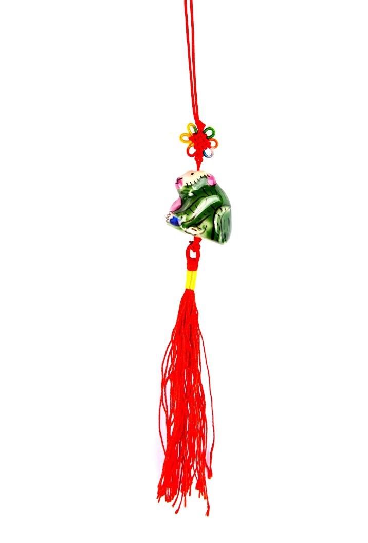 Amuleta Feng Shui cu Maimuta - portelan