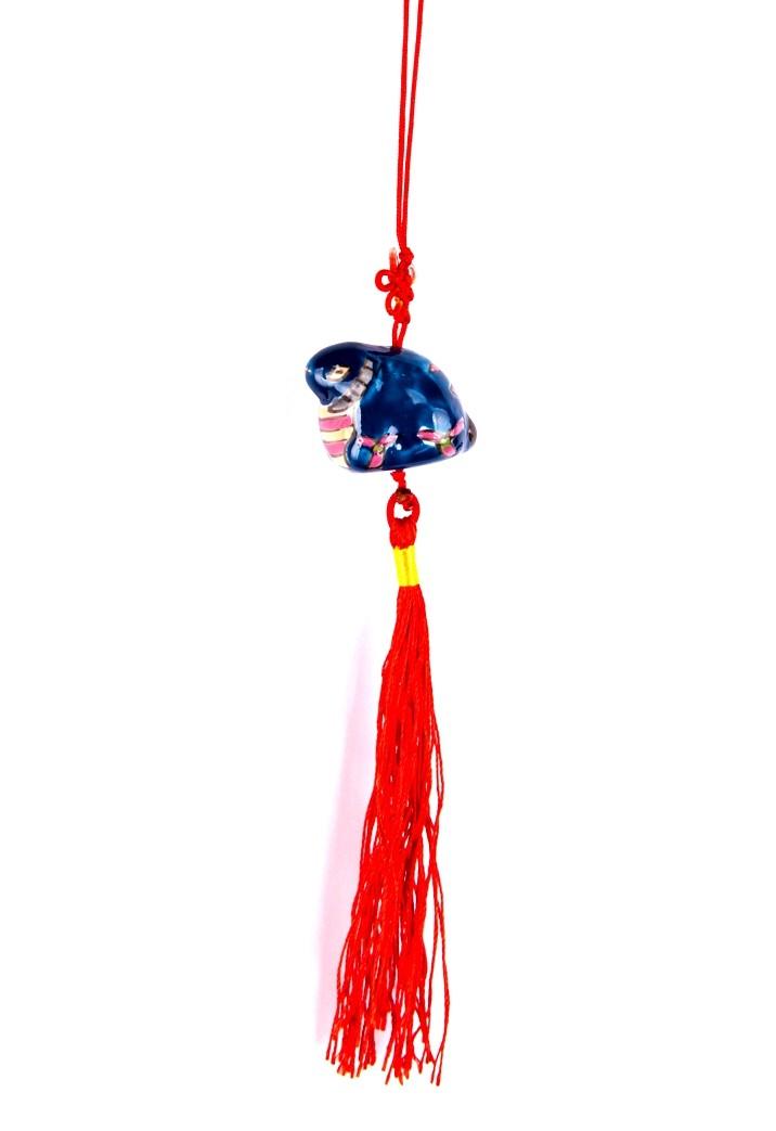 Amuleta Feng Shui cu Taur - portelan