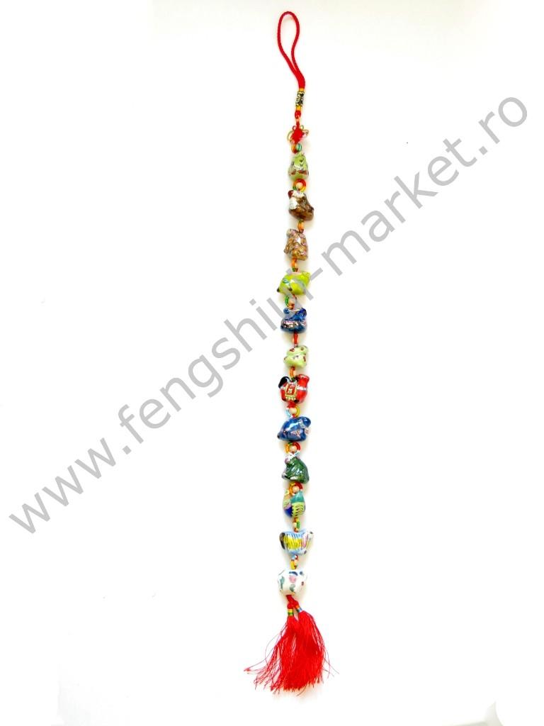 Amuleta Feng Shui Cele 12 Animale Zodiacale - portelan