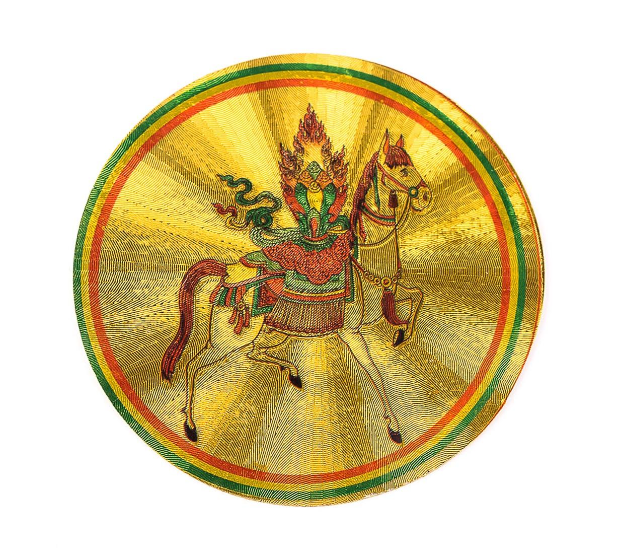Calul de Vant Tibetan cu Nestemata - autocolant