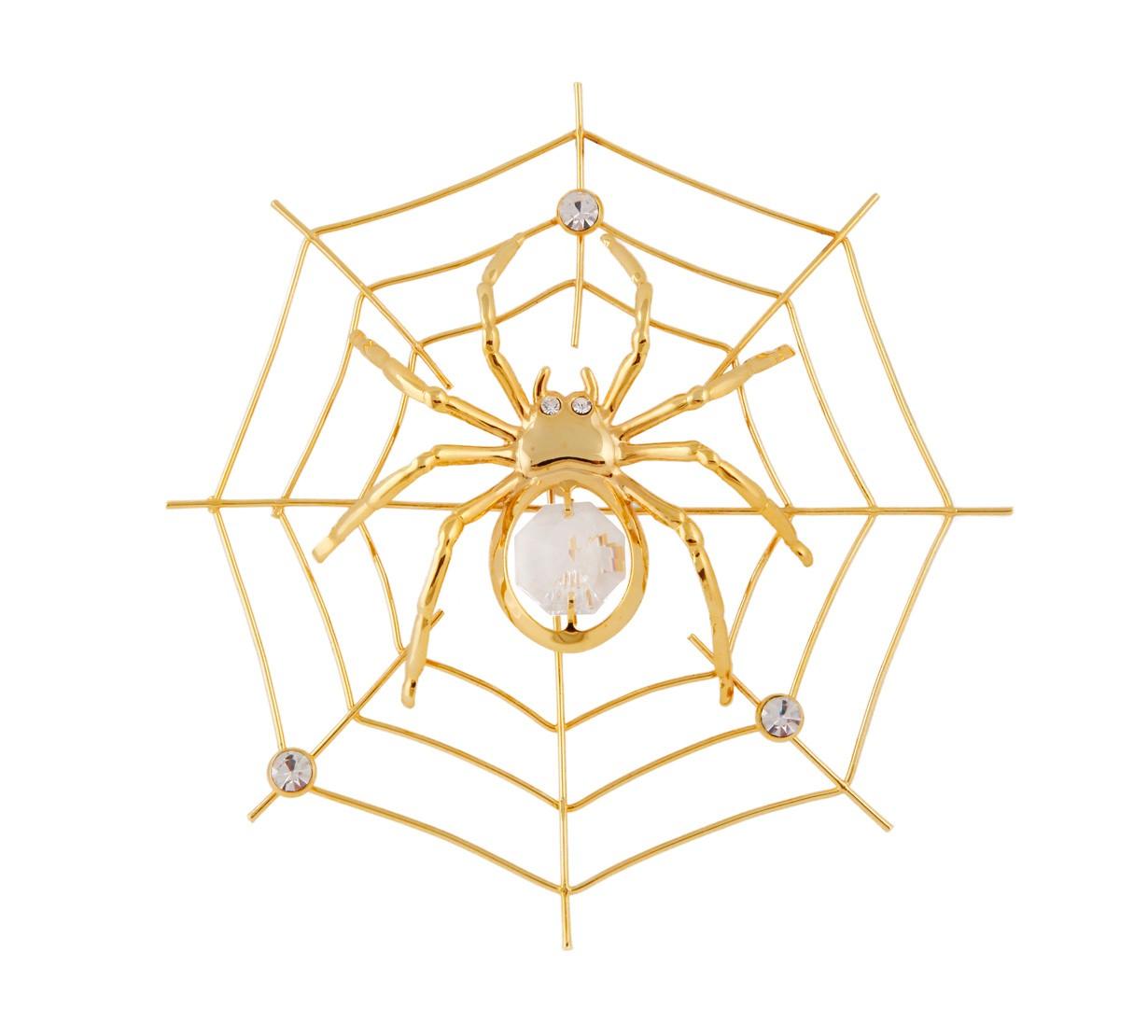 Paianjen cu Cristale Swarovski - placat cu Aur 24K