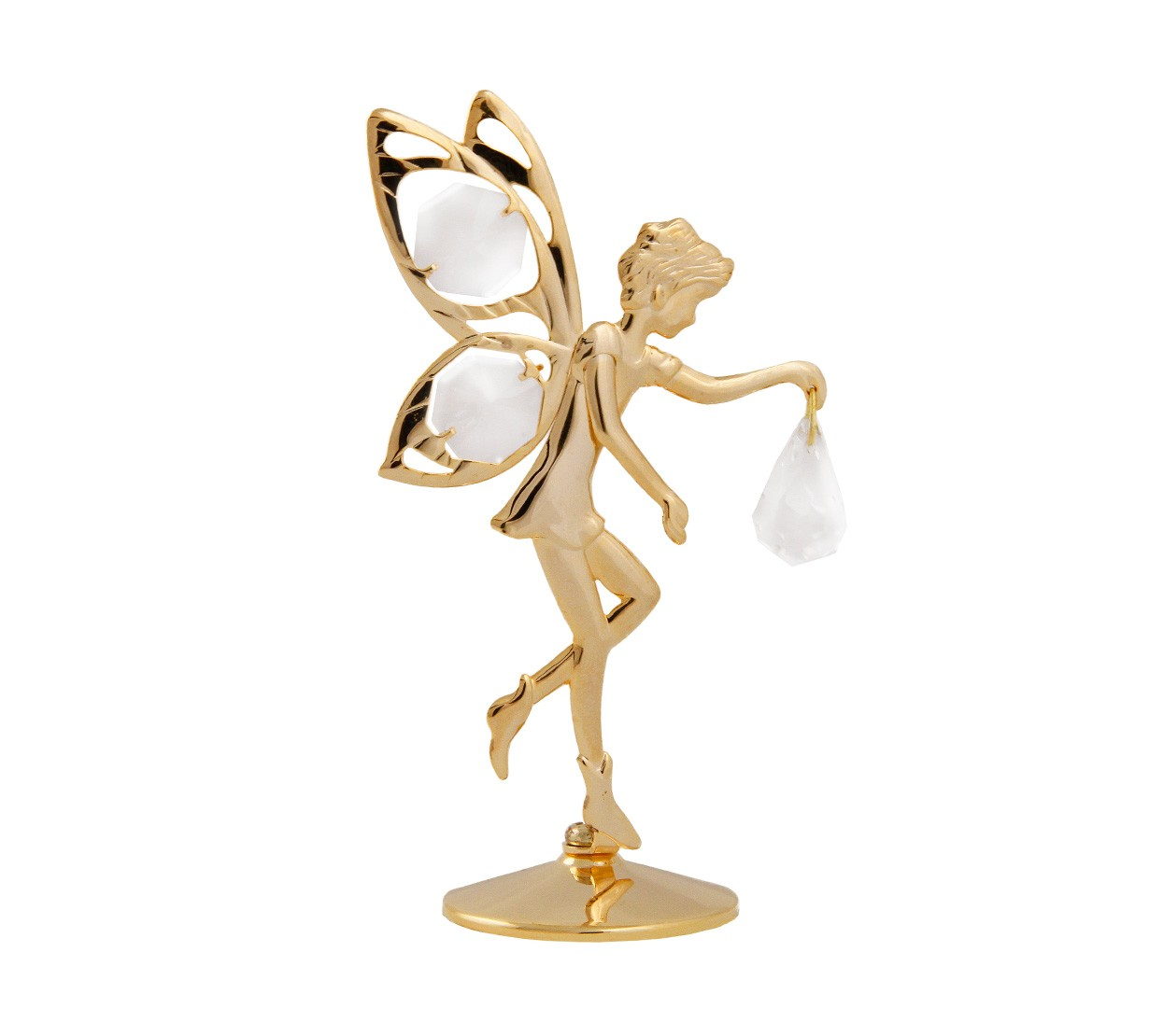 Elf cu Cristale Swarovski - placat cu Aur 24k