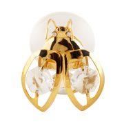Bondar cu Magnet cu Cristale Swarovski - placat cu Aur 24K