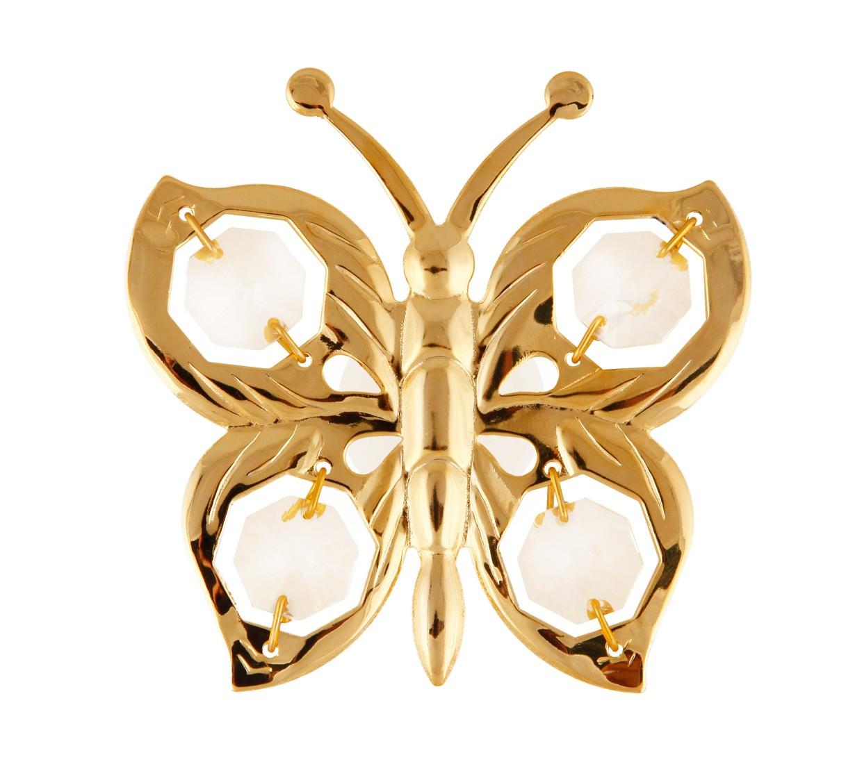 Fluture Suncatcher cu Cristale Swarovski - placat cu Aur 24K
