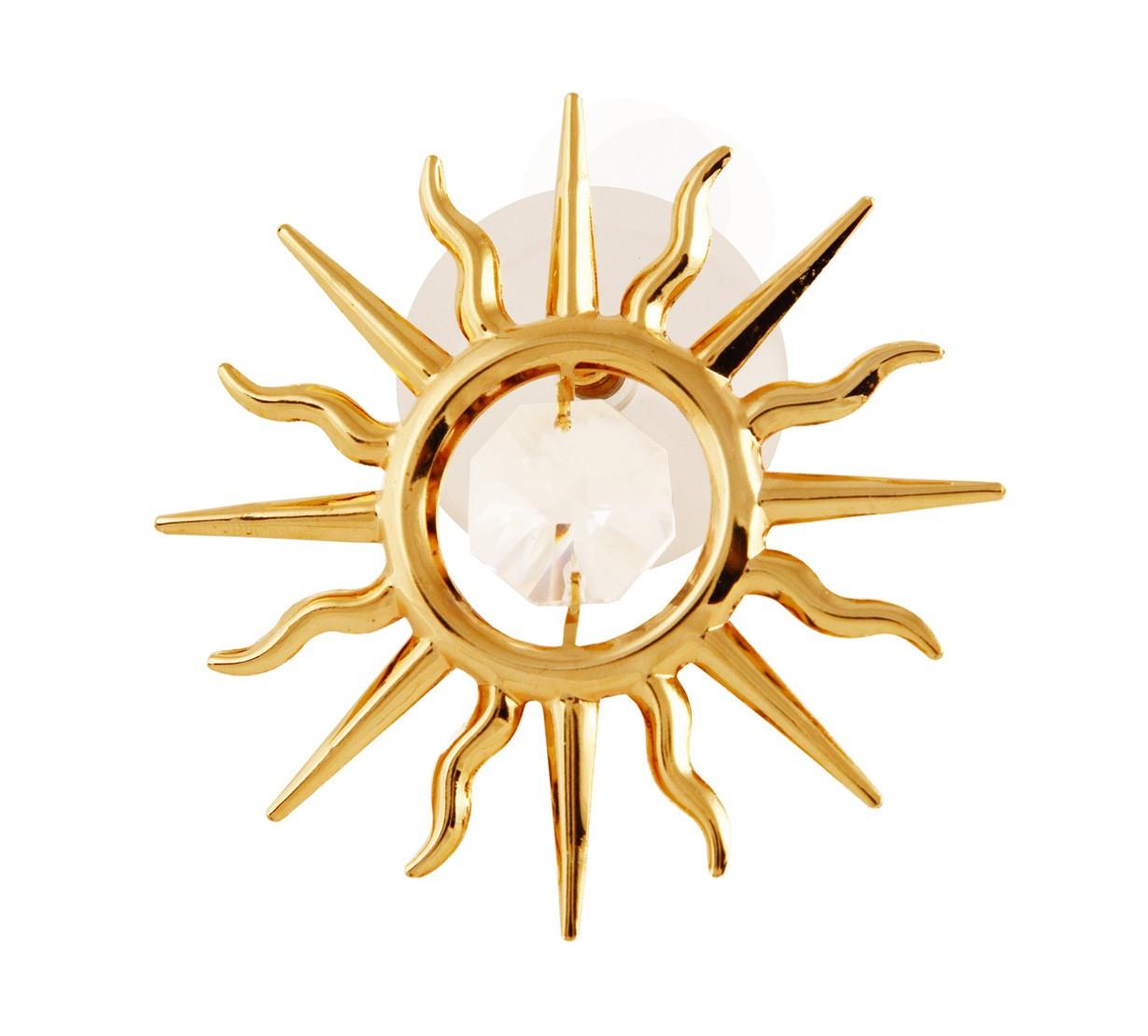 Soare cu Cristale Swarovski - placat cu Aur 24K