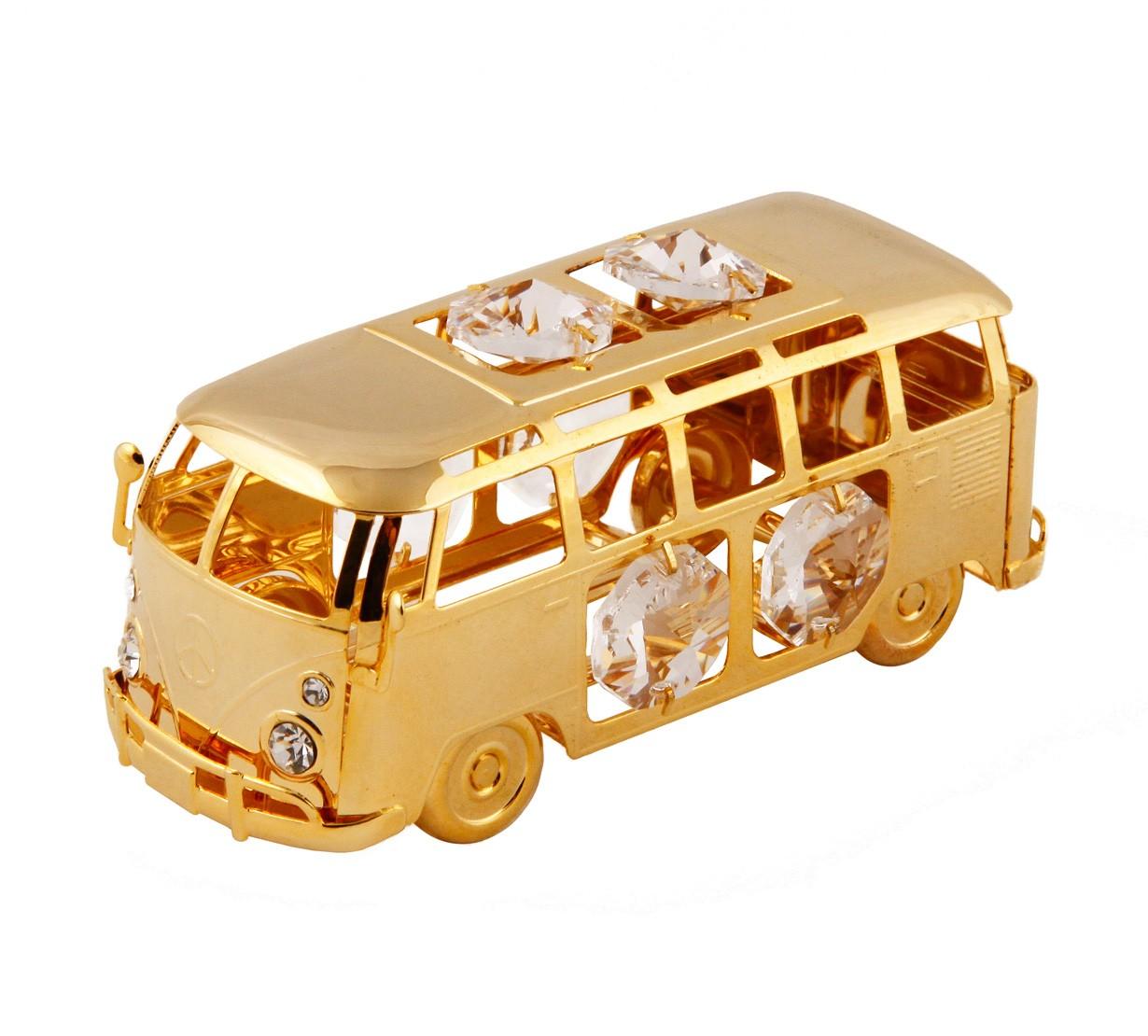 Autobus cu Cristale Swarovski - placat cu Aur 24k