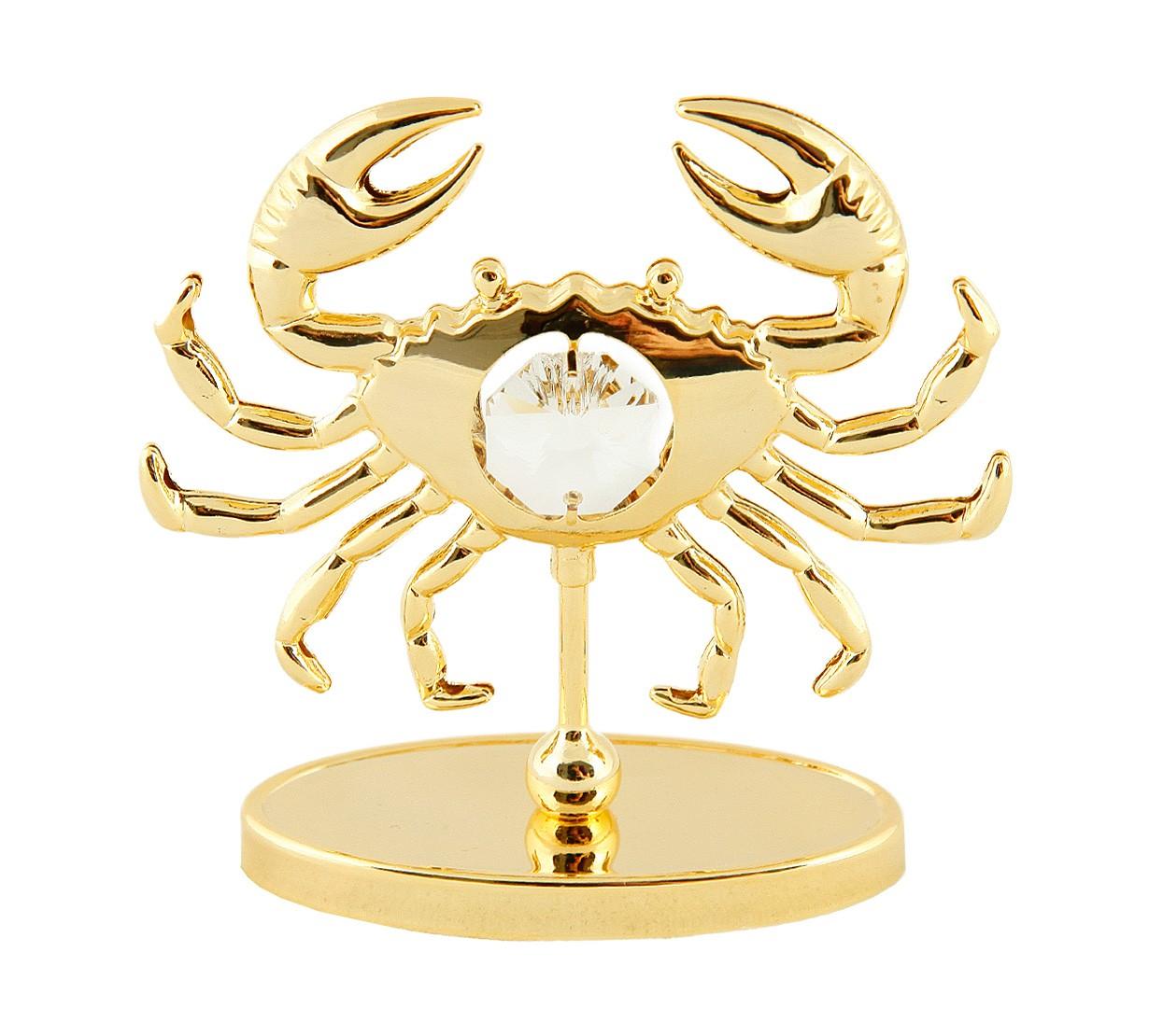 Rac pe stativ cu Cristale Swarovski - placat cu Aur 24K