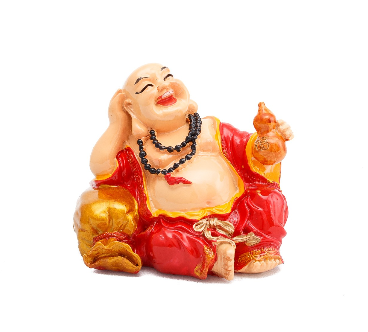 Buddha Vesel pe Sacul Bogatiei cu Wu Lou - marime medie