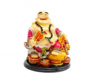 Buddha Vesel pe Monede , Sacul Bogatiei si Evantai