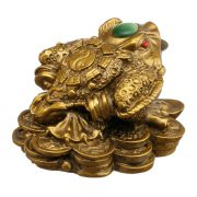 Broasca Norocoasa cu Trei Picioare cu Pepite si Monede - pentru Prosperitate