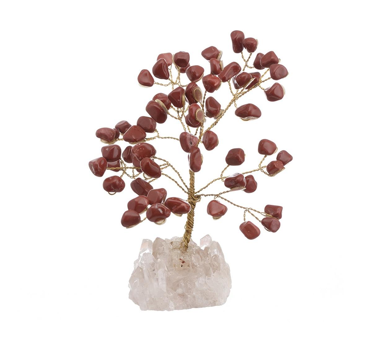 Copac Feng Shui cu cristale Jasp pe suport Cuart - model unicat 2