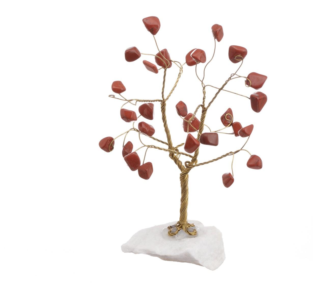 Copac Feng Shui cu cristale Jasp pe suport Piatra - model unicat 4